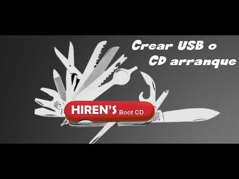 Crear USB o CD Booteable Hiren´s Boot 15.2