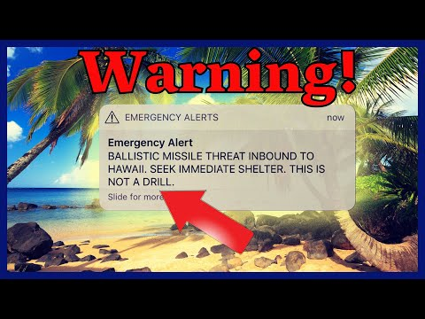 Ballistic Missile Heading For Hawaii - Simple Mistake? Or Government Psyop?