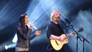 Christina Perri and Ed Sheeran singing