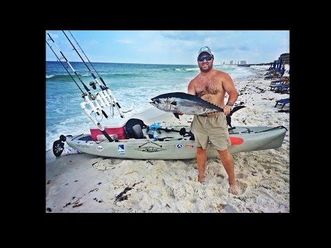 Offshore Kayak Fishing - Destin, FL - Blackfin Tuna - King Mackerel - GoPro