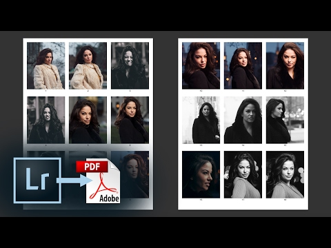 Export a PDF Contact Sheet from Lightroom CC – How to add a Watermark, Captions, & More
