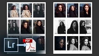 Export a PDF Contact Sheet from Lightroom CC – How to add a Watermark, Captions, & More | Education