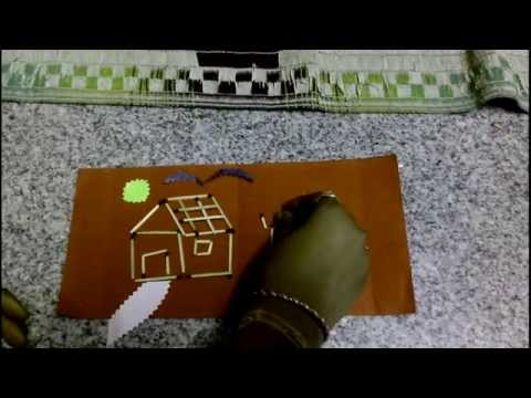Match stick crafts- how to build a house