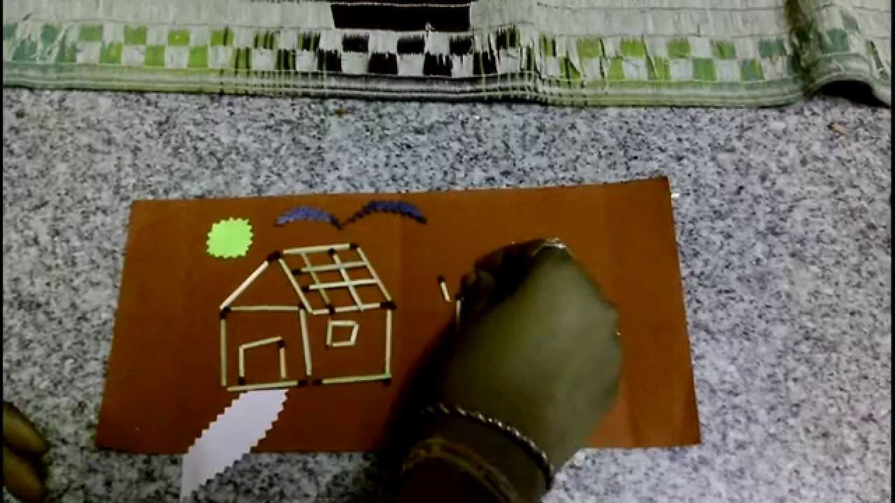Match stick crafts how to build a house youtube for How to start building a house