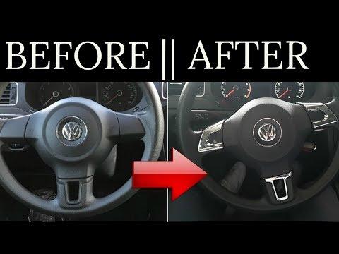 How To Install Steering Wheel Chrome Cover || Example on VW 2009-2013 Jetta 6 Mk6 Bora Golf Passat