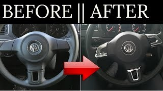 How To Install Steering Wheel Chrome Cover || Example on VW 2009-2013 Jetta 6 Mk6 Bora Golf Passat