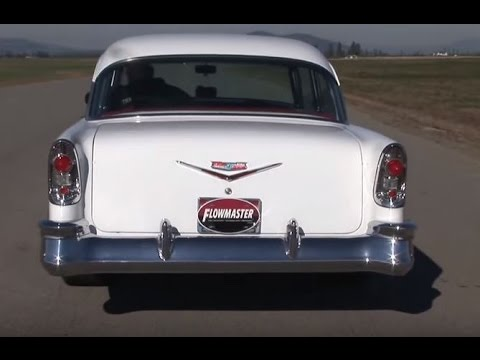 Flowmaster Super 40 Series Delta Flow Mufflers 1956 Chevy Bel Air Overview Tutorial