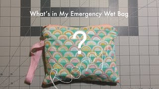 What's in my Emergency Wet Bag? - Reusable Menstrual Products (Cloth pads and menstrual cups) Video