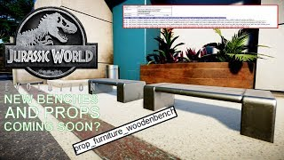 NEW 'BENCH' FOUND IN IN-GAME FILES? DATA SHOWS A POSSIBLE NEW OBJECT IN JURASSIC WORLD: EVOLUTION
