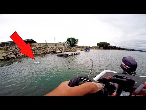 Bass Fishing INSANE RIVER CURRENT!!!