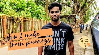 How I make train journey vlogs ( #behindthescenes )