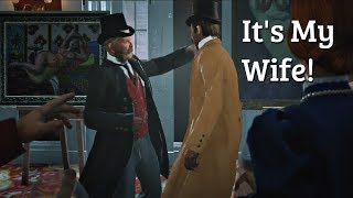 Red Dead Redemption 2 - Art Gallery Brawl Over Nude Family Photos (PS4 Pro)
