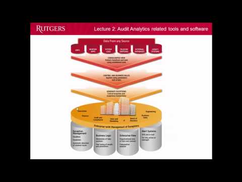 Intro To Audit Analytics Lecture 2: Audit Software And Tools