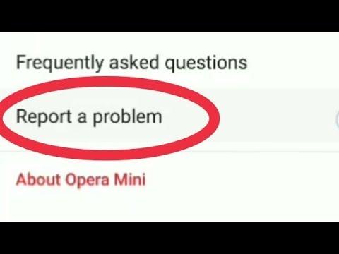 Bug Fix || How To Report a Problem in Opera Mini