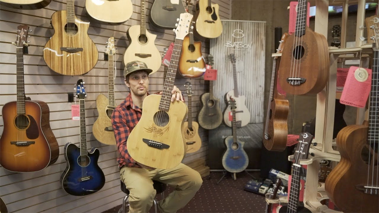 3fc6139cef Luna Safari Bamboo Travel Size Acoustic Guitar - YouTube