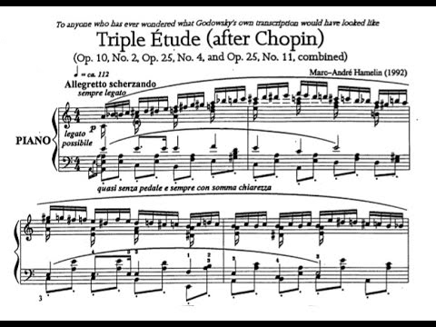 Marc-André Hamelin - Étude No. 1 in A minor 'Triple Étude, after Chopin'