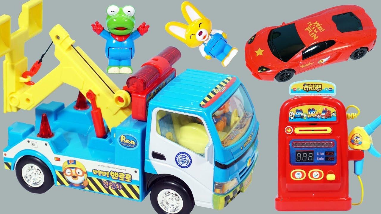 小企鵝Pororo的仿真工程拖車玩具