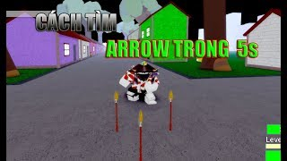 Roblox - T-M ARROW TRONG 5s - COMMENT À FIND ARROW - JOJO Blox - D'a Hûu Power