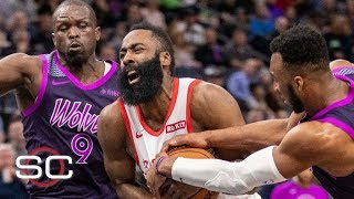 NBA film study: James Harden fails to close vs. Timberwolves | SportsCenter