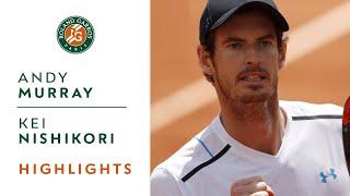 Andy Murray v Kei Nishikori Highlights - Men's Quarterfinals 2017 | Roland-Garros