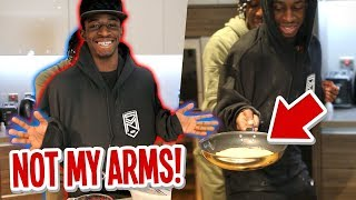 """WORLD'S WORST PANCAKE?!"" NOT MY ARMS CHALLENGE WITH MANNY!"