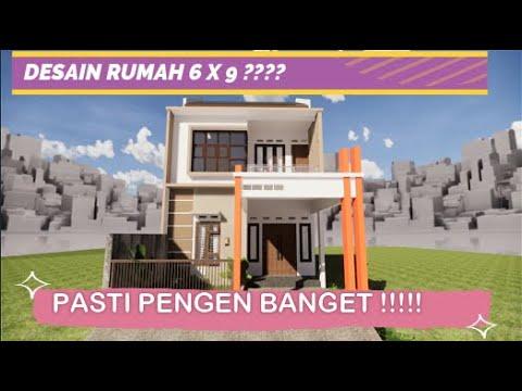 desain rumah minimalis 6 x 9 2 lantai - youtube