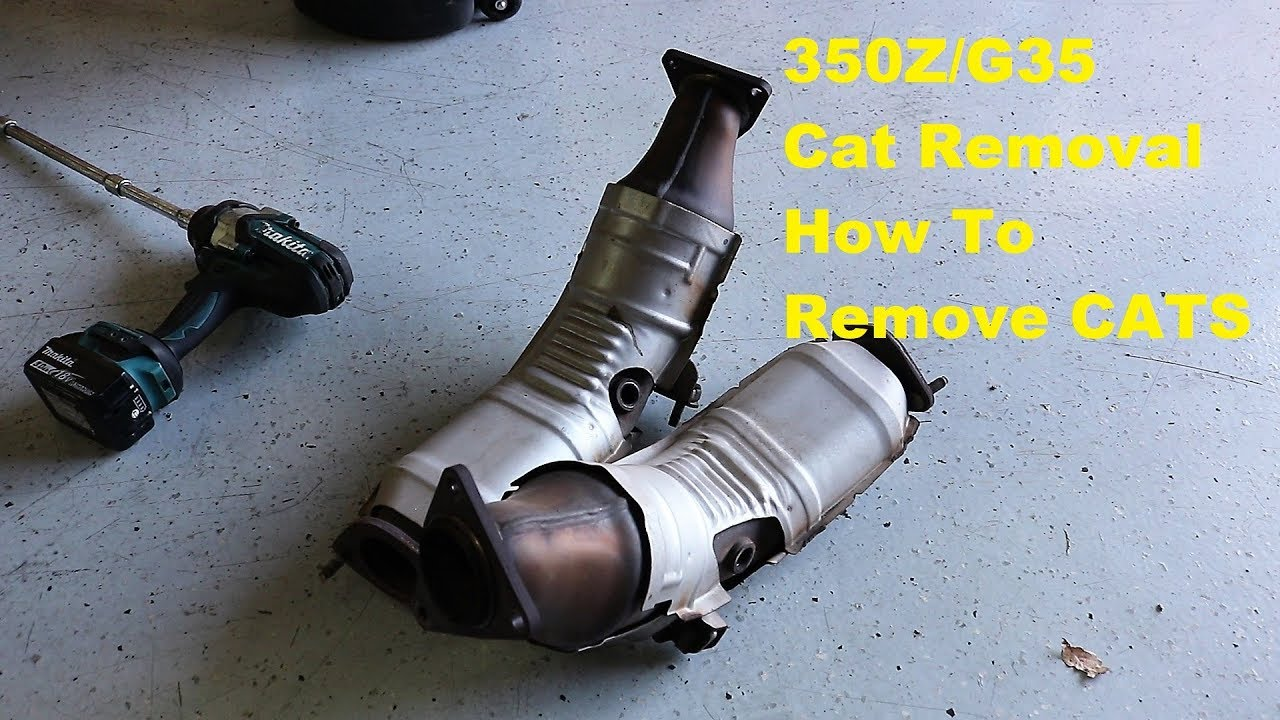 350z catalytic converter removal g35 v35 z33 350z cat removal for catless pipes replacement