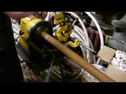 Резка трубы на станке REMS Магнум – до 2″