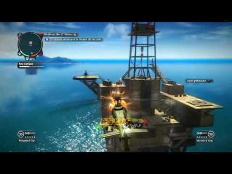 Just Cause 2: Offshore oil rig assault