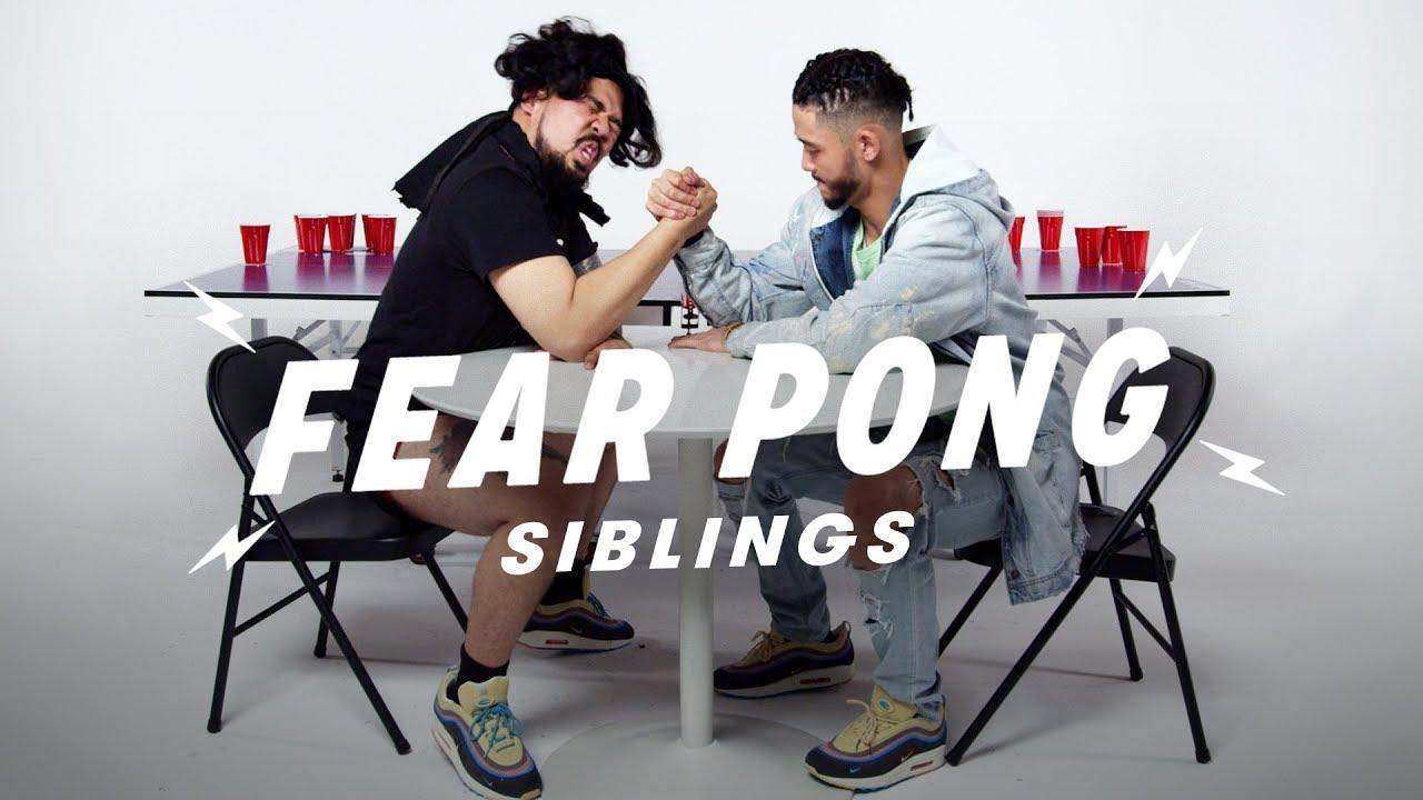 Siblings Play Fear Pong (Dae Shik vs. Dae Yang) | Fear Pong | Cut