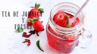 Téa De Jamaica Y Fresas - Como Hacer Agua De Jamaica (hibiscus) Y Fresas