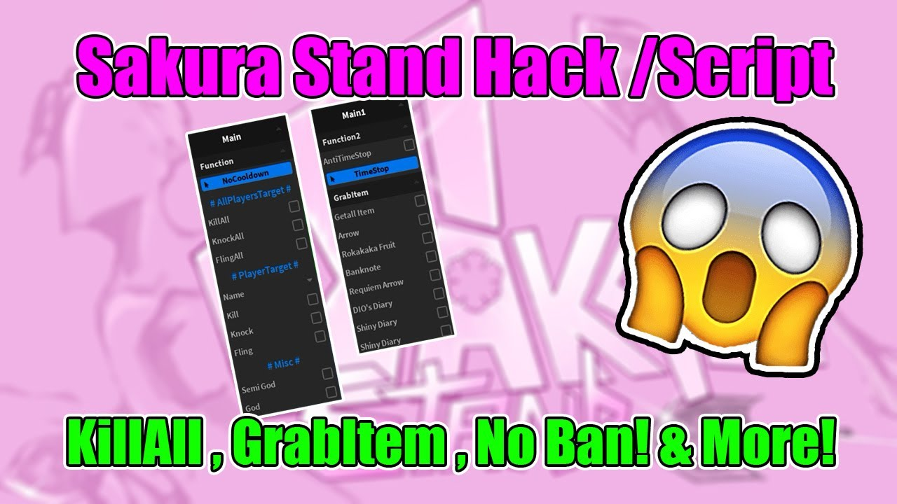New Sakura Stand Hack Script Killall Grabitem More Op Youtube An arrow function expression is a compact alternative to a traditional function expression, but is limited and can't be used in all situations. new sakura stand hack script