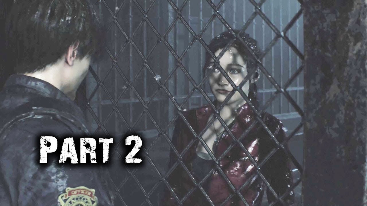 Meeting Claire At Courtyard Resident Evil 2 Remake Leon