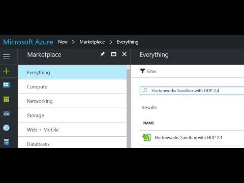 Azure Virtual Machine w/ Hortonworks Sandbox
