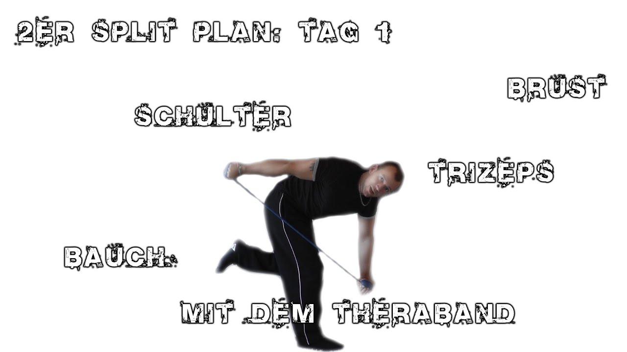 Training zuhause: 2er Split Tag 1 mit dem Thera-Band - YouTube