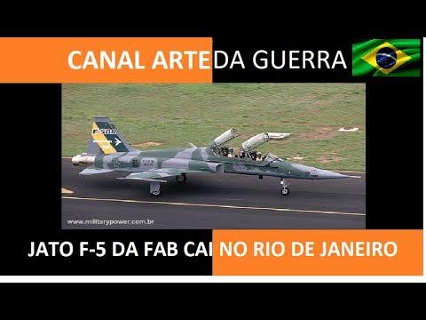 JATO F-5 CAI NO RIO:  A NOTA OFICIAL DA FAB- VÍDEO 189
