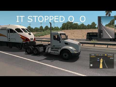 Trains Everywhere Mod messing around [American Truck Simulator] |