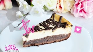 COMO HACER CHEESECAKE CON BASE DE BROWNIE