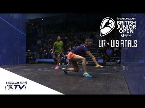 Squash: U17 + U19 Finals Highlights - Dunlop British Junior Open 2018