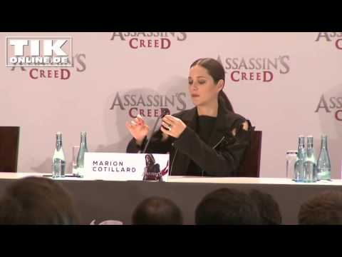 """ASSASSIN'S CREED"" Marion Cotillard and Michael Fassbender press conference - full lenght!"