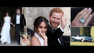 Meghan wears Diana's emerald ring with Harry head for Frogmore House after royal wedding