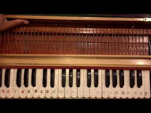 Funny Song Learn Sar Jo Tera Chakraye On Harmonium/Piano