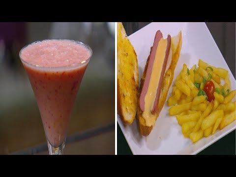 سندوتش هوت دوج بالجبنة و مايونيز دبس رمان - سموذي البرتقال بالتوت : سندوتش وحاجة ساقعة حلقة كاملة