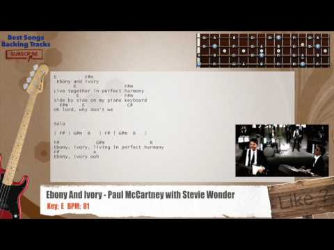 Ebony And Ivory - Paul McCartney with Stevie Wonder Bass Backing Track with chords and lyrics
