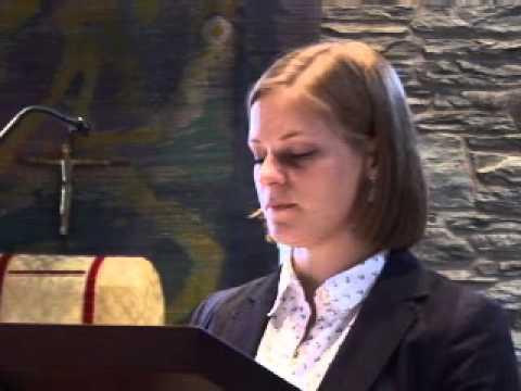Evie Jansen 14 Church Assembly talk
