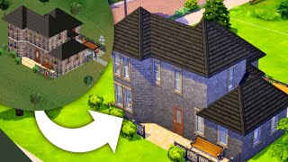 i built the original Goth House from the Sims 1 in the Sims 4