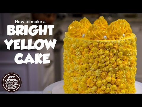 How to make a BRIGHT YELLOW CAKE | Jacked Up Cakes with Jack Rogers