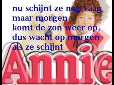 Annie - morgen met tekst