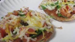 Bagel Pizza Bites Recipe Video- Quick Snack By Bhavna!