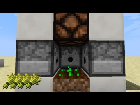 Minecraft Farm - Fastest Automatic Wheat Farm (13w05a)